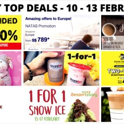 BQ's Daily Top Deals: Big Branded Toy Sale, 1-for-1 Sharetea, 70% OFF Storewide at Osmose, 1-for-1 Snow Ice, 1-for-1 Starbucks Drink, Scoot Vday Sale & More!
