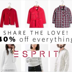 Esprit: Valentine's Day 1-Day Flash Sale with 40% OFF Everything!