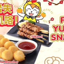 Karaoke Manekineko: FREE Golden Cheese Muncher or Yakitori When You Sing!