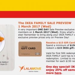 IKEA: One Day Family Sale Preview + $1 Salmon Mayo Croissant