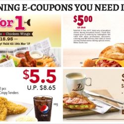 All the Dining E-Coupons in Singapore You Need to Save Now from Burger King, KFC, Delifrance & More! - February/March Version
