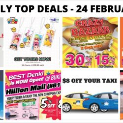 BQ's Daily Top Deals: Tigerair 50% OFF, Jetstar Weekend Frenzy, Sharetea 1-for-1 , $8 OFF Taxi Ride, BHG Crazy Bazaar, Samsung Warehouse Clearance & More!