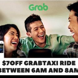 Grab: Coupon Code for $7 OFF Your GrabTaxi Ride Between 6am to 8am