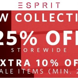 Esprit: Spring New Arrival Promotion - 25% OFF Storewide + Extra 10% OFF Sale Items (Min. 2)