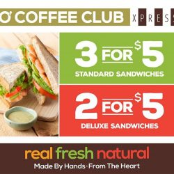 [O' Coffee Club] Have you visited us at O'Coffee Club Xpress Raffles Exchange?Drop by today for these fabulous sandwich deals today!!