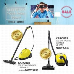 [Home-Fix Singapore] Be Electrified by these Home-Fix Deals with KARCHER's product!For more February Promotions, visit Home-Fix Website at