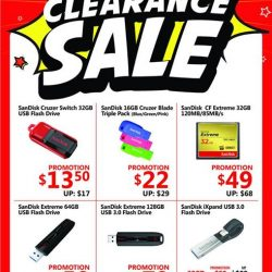 [CHALLENGER MINI] From now till 1 March 2017,  enjoy up to 50% off your coveted gadgets - storage devices, fitness accessories to computer