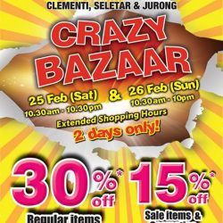 [BHG Singapore] Miss out on our Crazy Bazaar today?