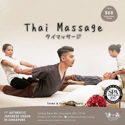 [Yunomori Onsen and Spa] Have you tried our award winning thai massage yet?  Promotional prices for 60 minutes Thai Massage starts from $68! Here