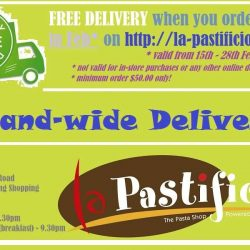 [LA PASTIFICIO] FREE DELIVERY* this month (15/02/17 - 28/02/17) when you order from our website http://la-pastificio.com/ !