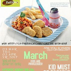 [LA PASTIFICIO] Reward your kid this March holidays!