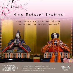 [Yunomori Onsen and Spa] The Hina Matsuri festival is a day where people pray for the growth and happiness of young girls.
