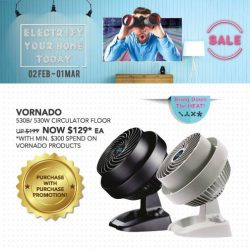 [Home-Fix Singapore] Cool Yourself with Vornado Fans!For more February Promotions, visit Home-Fix Website at http://www.home-fix.com/events-