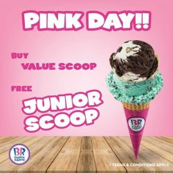 [Baskin Robbins] Show us anything in pink, and get free Junior Scoop if you purchase Value Scoop ice cream! #BaskinRobbins