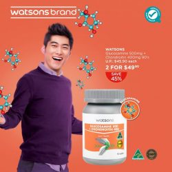 [Watsons Singapore] Give your joints a little lift and stand taller with Watsons' Glucosamine 500 + Chondroitin 400! It helps to promote healthy