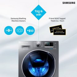 [Samsung Singapore] We've extended the registration period for owners of Samsung washing machines to receive their rewards, and you could win