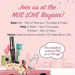 [BENEFIT] Calling all Nus Singapore benebabes & benehunks! We're here at the NUS LOVE BAZAAR today and tomorrow at the Science