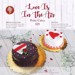 [Cold Stone Creamery] Fall in love this Valentine's Day with #ColdstoneSG's petite cake. Available in two flavors - Midnight Lovers 🍫 and Smitten 🍓