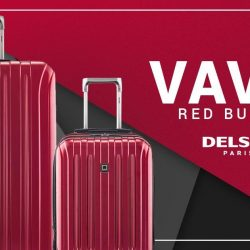 [Delsey] Here's something for you and your special one. Order the DELSEY Vavin red bundle for a great deal at