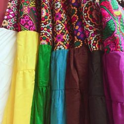 [Utopia] Repeated these skirts in gorgeous colours, featuring ethnic waist embroidery details.