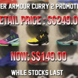 [Hoops Factory] Don't miss out our Steph Curry 2 Promotion that is happening now, only at Hoops Factory Centrepoint and Northpoint.