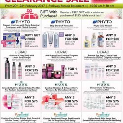 [Beauty By Nature] Up to 80% OFF! The Beauty Bonanza Clearance Sale happening on the 20th to 26th February 2017 at Parkway Parade