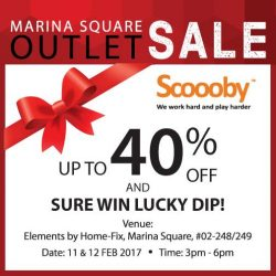 [Home-Fix Singapore] Come down to Home-Fix @ Marina Square this weekend to enjoy up to 40% off discounts & SURE WIN Lucky Dip!