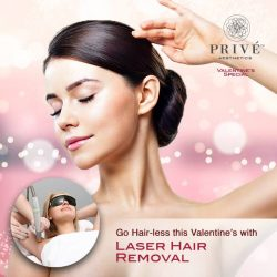 [Prive Aesthetics] Go Hair-less this Valentine's with His/Her Laser Hair Removal!Men and women can both enjoy smoother, hair-