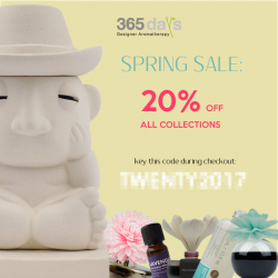 [365 Days] 365 DAYS SPRING SALE IS ONFrom 15 February 2017 till 31 March 2017, enjoy a 20% discount off everything