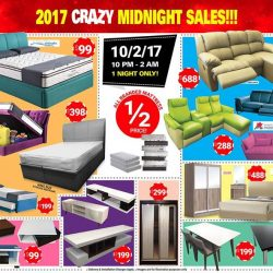 [FULL HOUSE HOME FURNISHINGS] HAPPENING THIS FRIDAY NIGHT!! 😱 MIDNIGHT SALES!!!! 😱 😱😱10TH Feb 2017, 10PM – 2AM ! 😱Blk 114 Aljunied Avenue 2, Level 2, S380114 (Above