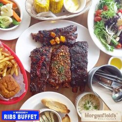 [Morganfield's] Eat to your heart's content at Morganfield's Weekend Ribs Buffet! All the juicy Sticky Bones you want, together