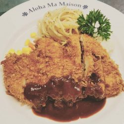 [Ma Maison Restaurant Singapore] TGIF!!!! Yeah!!! Today lunch special at Ma Maison at Bugis Junction isChicken Cutlet with Tonkatsu SauceSet come with