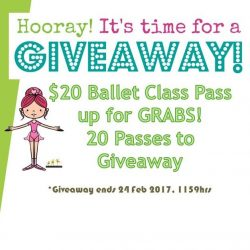 [The Ballet & Music Company] 20 Class Passes (worth $20.00 each) @ The Ballet & Music Company in Harbourfront up for grabs!To win, 'LIKE' our