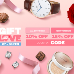 [Lazada Singapore] Enjoy up to 15% off during our Valentine's Day Megasale on the 7 and 8 of February! Bookmark this