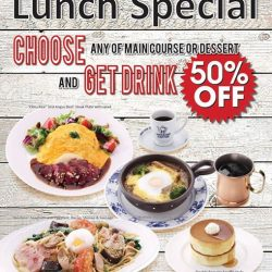 "[Hoshino Coffee Singapore] Hoshino Coffee Plaza Singapura Outlet is just starting ""Lunch Special"" promotion! Choose any of main course or dessert to get """