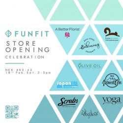 [NEX] Have you heard? Local swim and active apparel brand FUNFIT's (#02-42) flagship store is at nex, with a