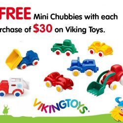 [The Collector] Get a FREE Viking Mini Chubbies with every $30 spend on Viking Toys merchandise at the Collector. Valid from now