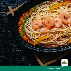 [7-Eleven Singapore] There's no impasta here, we're serving the real deal. Made with love, our Prawn Arrabiatta Spaghetti will warm