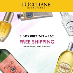 [L'Occitane] From everyone's favourite Aromachologie Repairing Shampoo to the amazing Divine Youth Oil, you can now enjoy free shipping when