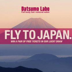 [Datsumo Labo] Stand a chance to win a pair of free tickets to Japan when you purchase hair removal course packages this