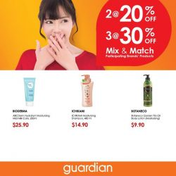 [Guardian] Offers so good, you'll want to keep them secret. Mix & Match and get them now at selected Guardian outlets