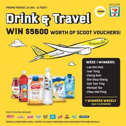[7-Eleven Singapore] Congratulations to our Week 1 winners for winning $200 worth of Scoot vouchers each!We still have 21 more vouchers