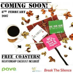 [Swensen's] We are happy to partner with PAVE in support of Dating Violence Awareness Week (8-14 Feb). Free coasters are