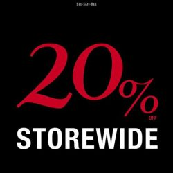 [BsaB] Head down to BsaB this weekend to enjoy 20% storewide at all our outlets located at The Star Vista, Suntec