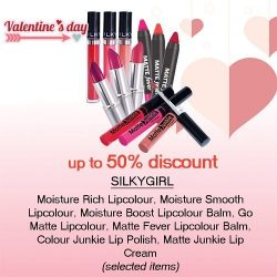 [Pink Beauty] Add a little colour to give your face a colour pop with SILKYGIRL's lippies! Now up to 50% discount