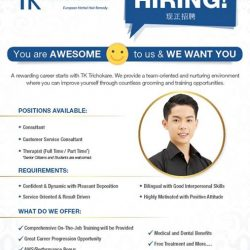 [TrichoKare] We are HIRING! Come join us and be part of our AWESOME team! A rewarding career awaits you. Call us @