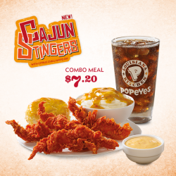 [Popeyes Louisiana Kitchen Singapore] Step right up to the Cajun heat! Only if you dare. Snap up this deal at our outlets today!