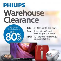[Courts] HURRY! FINAL 3 DAYS of Philips Warehouse Clearance STARTS TODAY! It's your LAST CHANCE to enjoy up to 80%