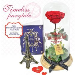[Noel Gifts] Fly her to Paris & make her the belle of your heart. Personalised her name on the glass dome with this