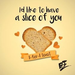 [Heavenly Wang] Yummy Yummy! Jio your friends and grab the 1 for 1 toast today! Remember to like our FB page to
